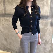 Fashions、2019新品  韓国ファッション 女性美up↑ 新品  女性 スリム  ニットカーディガン  コート