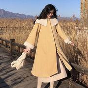 冬 新しいデザイン ウールのコート ファッション 彼 本 ウールコート ハイネック ボト