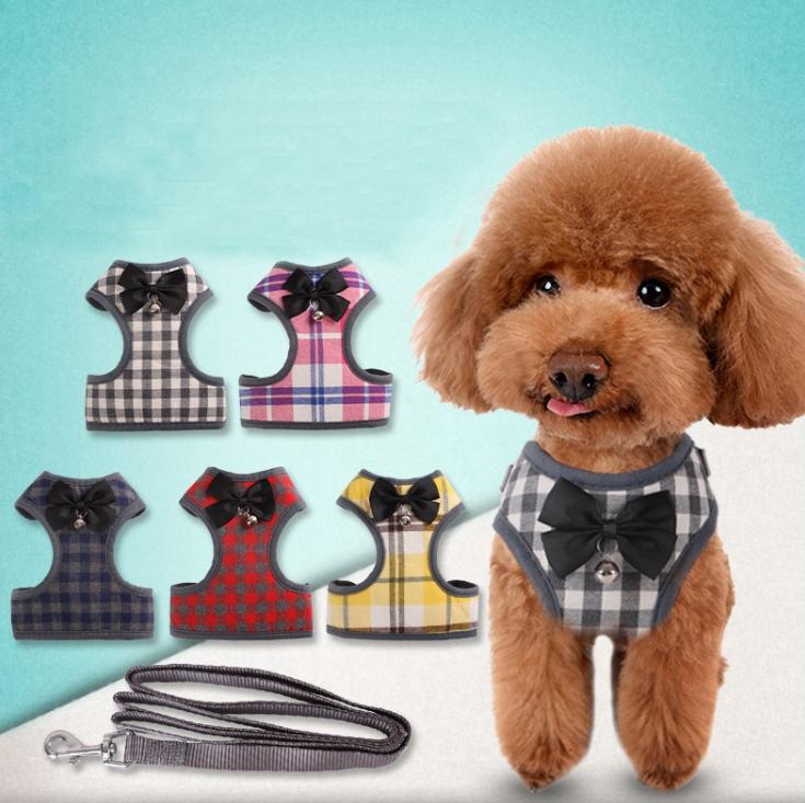 お買得 ペット用品 犬用胸背ハーネス付き けん引ロープ ペットグッズ 5色