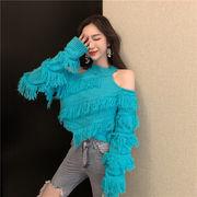 女性美up↑ 韓国ファッション  2019新品  大人気  CHIC気質  セクシー   短いスタイル  セーター