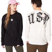【2019春夏新作】メンズ USA バックプリント スター 長袖Tシャツ ロンT カットソー