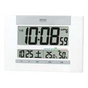 (クロック/ウォッチ)(ウェザー/カレンダー時計/温湿時計)セイコー 快適度表示付電波時計 SQ429W