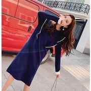 新しい女性のセクシー 韓国ファッション  CHIC気質  大きいサイズ  女性   シャツ  セータードレス