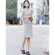 2019新作 レディース 韓国ファッション  CHIC気質  小さい新鮮な 春  レトロ  女性  レースの袖   ドレス
