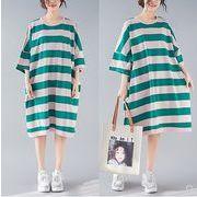 【春夏新作】ファッション/人気ワンピース♪ブラック/グリーン2色展開◆