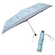 [55cm]折りたたみ傘 耐風仕様 スーパーミニ 婦人 レディース ミントフォレスト柄