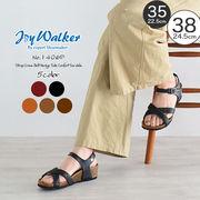 【joy walker】 レディースサイズ 足首ストラップ サンダル 4色