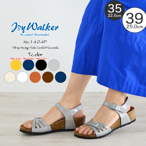 【joy walker】 レディースサイズ  ストラップ ウエッジ サンダル  9色