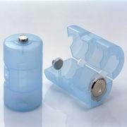 単3が単1になる電池アダプター ブルー