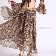 激安!ベリーダンス衣装◆インドダンス◆ドッキング◆ヒョウ柄◆ビーズ&コイン◆スリットスカート