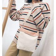 シェルダーバッグ 帆布 両面 両用 シンプル 無地 布地 ファッション 通学 大容量