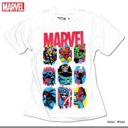 ★注目度抜群★人気ヒーローのキャラクターやロゴをカラフルにプリントした「MARVEL」マーベルTシャツ★