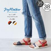 【joy walker】 レディースサイズ アンクルストラップ サンダル 2色