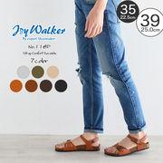 【joy walker】 レディースサイズ アンクルストラップ サンダル 6色