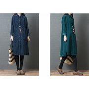 【大きいサイズM-XXL】ファッション/人気ワイシャツ♪グリーン/ダークブルー2色展開◆