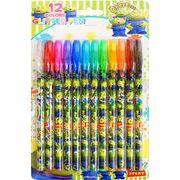 トイストーリーキラキラグリッターペン12色セット SY-2715
