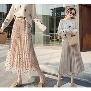 【大きいサイズL-4XL】【ウエストがゴム】ファッション/人気ロングスカート♪3色展開◆