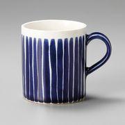 ■【マグカップ】美濃文山白線流し群青切立マグ