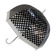 レディースビニール傘 【カラフルドットBK】 60cm