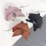 帽子 キャップ ベビー キッズ コッドン 綿 可愛い 韓国 兎耳 リボン