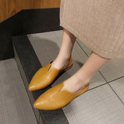 靴 女 春 新しいデザイン 韓国風 何でも似合う ヒント ローファー フラット 2way