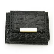 【新商品】クロコ風型押し ミニ 3つ折財布 (ダネル)【財布 ウォレット レディース】
