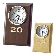 (クロック/ウォッチ)(記念時計/オリジナル)レーザー木象嵌 数字記念時計 MK-45