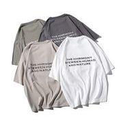 春夏新作メンズTシャツ トップス半袖 丸首 ゆったり シンプル♪全4色