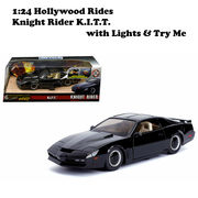 1:24 HOLLYWOOD RIDES - KNIGHT RIDER K.I.T.T. with Lights 【ナイトライダー ミニカー】