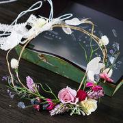 お花の冠 フラワー ヘッドドレス 結婚式/誕生日パーティー/写真撮影