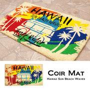 玄関マット レクト★コイヤーマット★Hawaii Sun Beach Waves