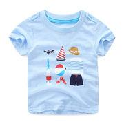 赤ちゃん 漫画 シャツ 夏服 新品 児童 半袖Tシャツ ボトムシャツ 男児 半袖 トップ