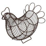 遊び心あふれるデザイン!■【T&G】アイアン製 チキンバスケット【ブラウン】(中)