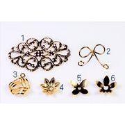 【銅製高品質】【鉄製手頃価格】 透かしパーツ  花キャップ フラワーパーツ ワイヤの蝶々パーツ