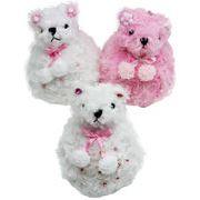 【在庫処分】ふわふわ♪雪だるま風・クマさんマスコット ★ ぬいぐるみ