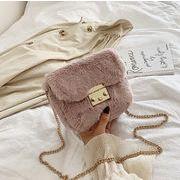バッグ オシャレ チェーン ファー付き 秋冬新作 ショルダーバッグ もふもふ 韓国ファッション