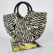 カゴバッグ ハンドバッグ トートバッグ 手作り 編みバッグ ハンドメイド 韓国