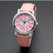 正規品AMORE DOLCE腕時計アモーレドルチェ AD18303-SSWH/PK ラウンド 革バンド レディース腕時計
