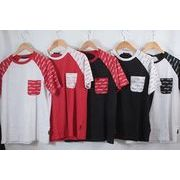 【EDHARDY】 エドハーディー メンズ 切り替えプリント 半袖Tシャツ 30枚 画像使用OK
