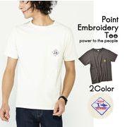 【実績商品】プレート柄ワンポイント刺繍Tシャツ
