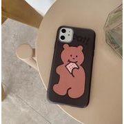 iphoneXSMAX保護ケース  XSMAXiphoneスマホケース熊 iphone11Promax