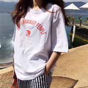 初回送料無料 2019欧米 プリント 半袖 Tシャツ 大人気 全2色 mjpzn-1903b15961