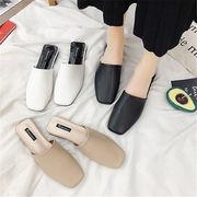 初回送料無料 2019シンプルスタイル ぺたんこ 靴 ビーチ サンダル 全3色 mjpxn-1903b0163