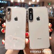 クリア シンプル クール iPhoneX/XR/XS Max iPhoneケース 5色入り