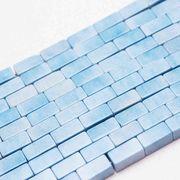 パーツ 素材 連 アゲート スクエア チューブ 4×8mm ライトブルー  品番: 11151