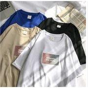 春夏新作メンズTシャツ 半袖トップス 丸首 ゆったり カジュアル♪全4色