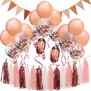 格安☆INS道具背景★パーティー★部屋掛け飾◆子供誕生日週歳百日▲風船タッセル連続旗セット