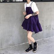 韓国風 夏 新しいデザイン パープル 言葉 人形のドレス アンティーク調 ノースリーブ