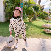 春 新しいデザイン 男女 小中児童 フル 印 ステレオ パターン セット 韓国風 2 帽