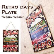 レトロデイズ エンボスプレート Woody Wagon♪